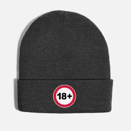 Birthday Caps & Hats - 18th / 18th birthday. / 18+ - Winter Hat asphalt