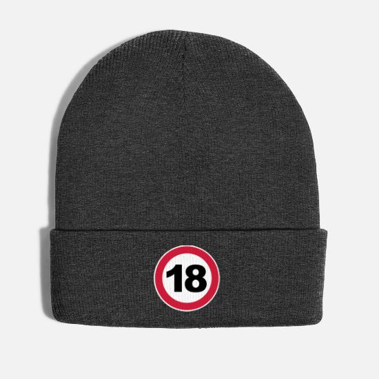 Birthday Caps & Hats - 18th birthday - Winter Hat asphalt
