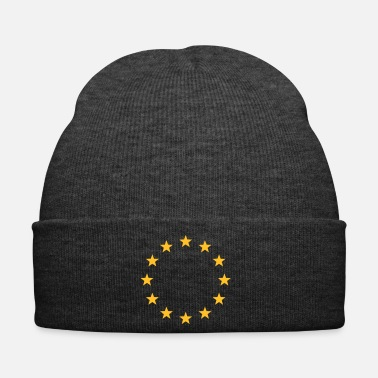 Europe Europe symbol sign shapes stars EU yellow blue - Winter Hat