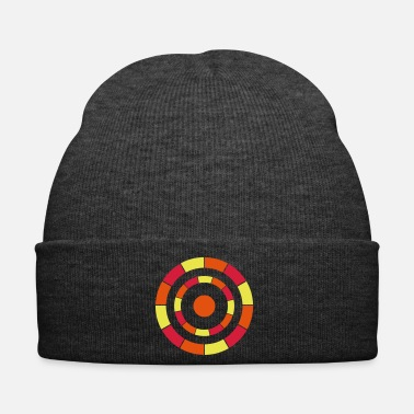 Grey 3 circles tricolor - Winter Hat