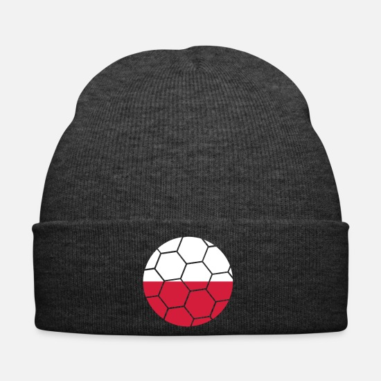Flag Caps & Hats - poland poland fan celebrate party ball pattern flag g - Winter Hat asphalt