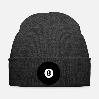 black billiard ball with the number 8 - Winter Hat