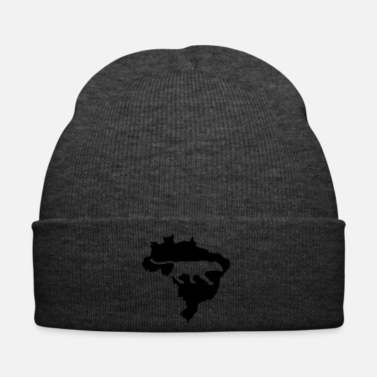 South America Caps & Hats - Brazil South America Panther Leopard Amazon wild - Winter Hat asphalt