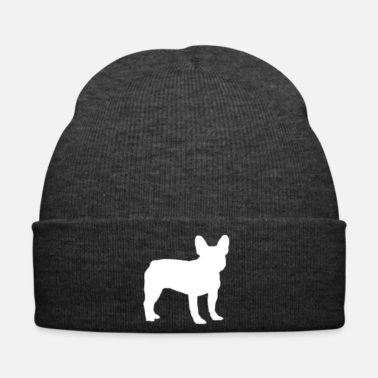 Pet Caps & Hats - French Bulldog - Frenchie - Winter Hat asphalt
