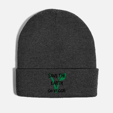 Earth Save the earth go veggie - Winter Hat