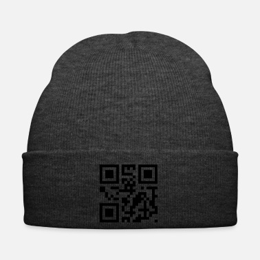Drague QR code: kiss me - Bonnet d'hiver