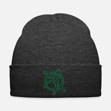Anarchy Outline Hand Drawn - Winter Hat