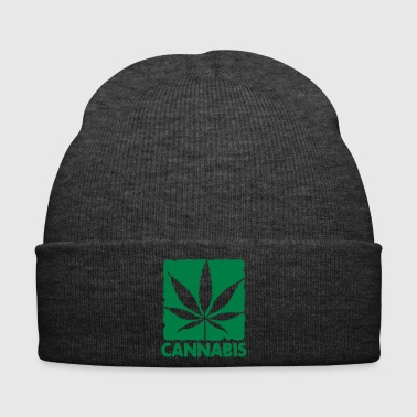 cannabis leaf boxed - Bonnet d'hiver