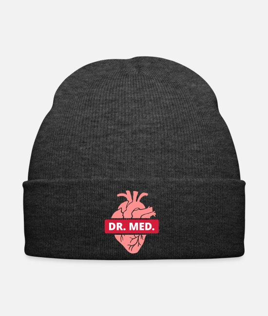 Anatomy Caps & Hats - Dr. med. Heart doctor medicine medical student doctors - Winter Hat asphalt