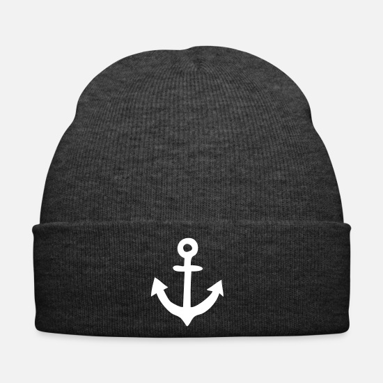 Sailboat Caps & Hats - Anchor gift - Winter Hat asphalt