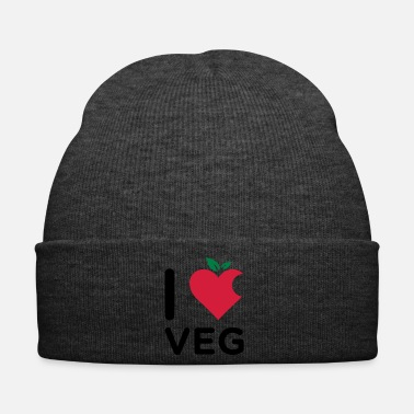 Nyc I Love Veg logo made from a mix of heart and fruit - Cappellino invernale
