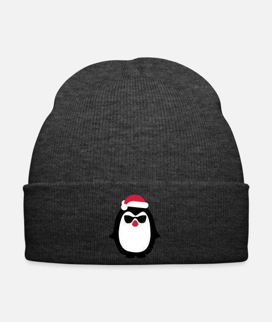 Sunglasses Caps & Hats - Christmas Penguin - Winter Hat asphalt