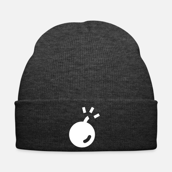 Explosion Caps & Hats - Bomb Blast Bumm Ball Ball bang loud crashing - Winter Hat asphalt