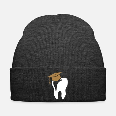 Tooth Tooth with mortarboard for dentist - Winter Hat