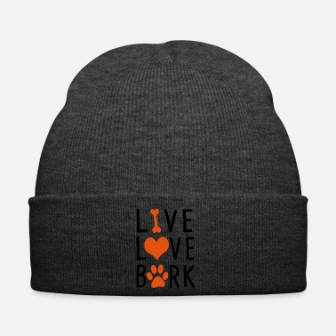 Quote Live Love Bark Dog Doggie Pet Gift - Winter Hat
