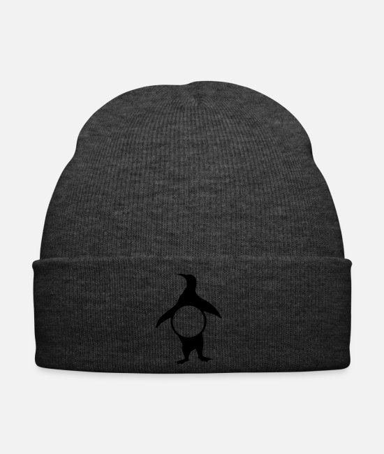 Winter Caps & Hats - Penguin Monogram Frames 12 - Winter Hat asphalt