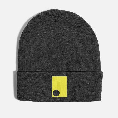 Rave abstract circle yellow - Winter Hat