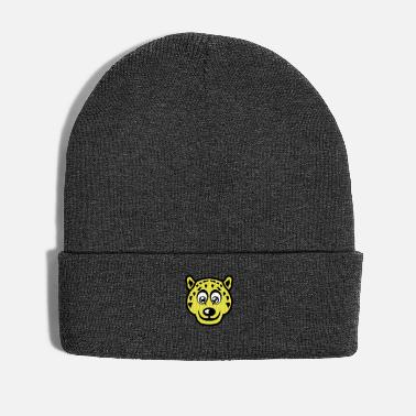 Leopard cartoon drawing funny animals leopards - Winter Hat