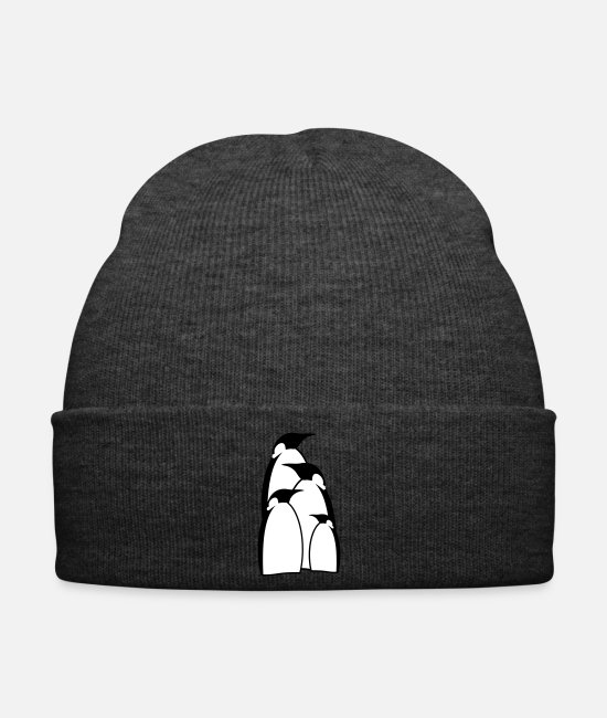 Offspring Caps & Hats - a penguin family - Winter Hat asphalt