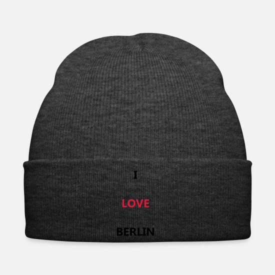 Love Caps & Hats - I love BERLIN - Winter Hat asphalt