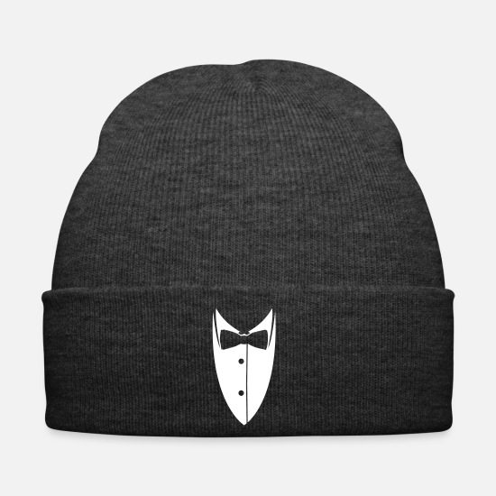 Miscellaneous Caps & Hats - Collar with bow tie made suit jacket - Winter Hat asphalt