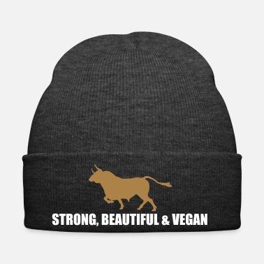 ffcf18499f2a4 Thanksgiving strong beautiful vegan - Winter Hat