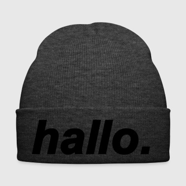 Hello greeting word - Winter Hat