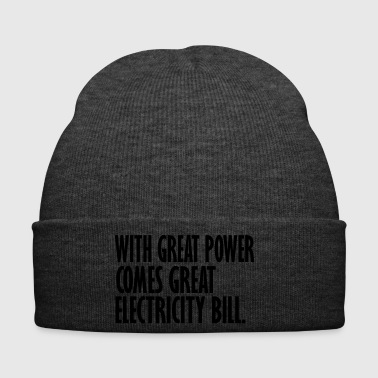 electricity bill - Winter Hat