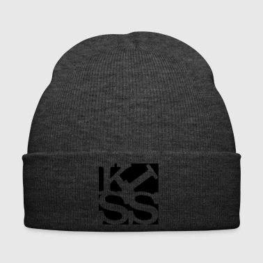 kiss homage to Robert Indiana black outside - Winter Hat