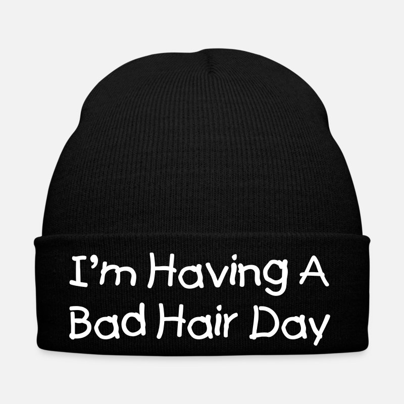 Bad Hair Day Petten & Mutsen - I'm having a bad hair day - Muts zwart