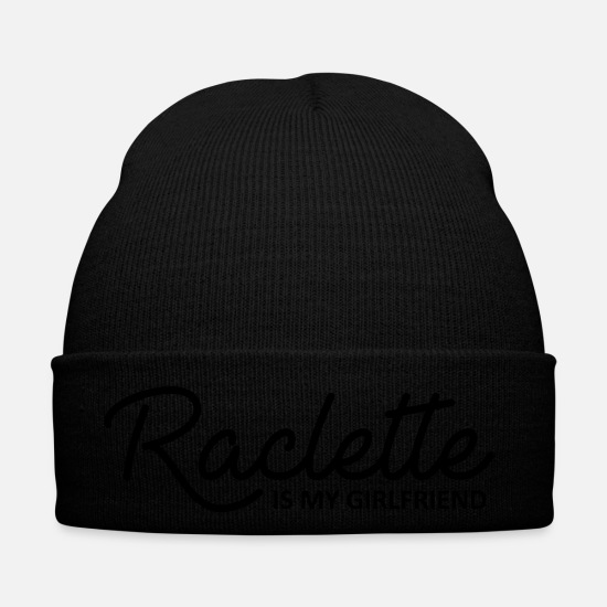 Ski Caps & Hats - Raclette is my girlfriend - Winter Hat black