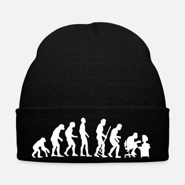 Crook Evolution monkey to human crooked back Pc nerd - Winter Hat
