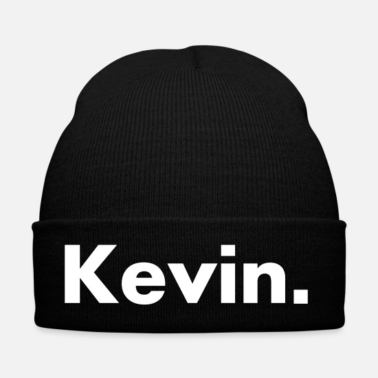 Birthday Caps & Hats - Kevin - name - font - Winter Hat black
