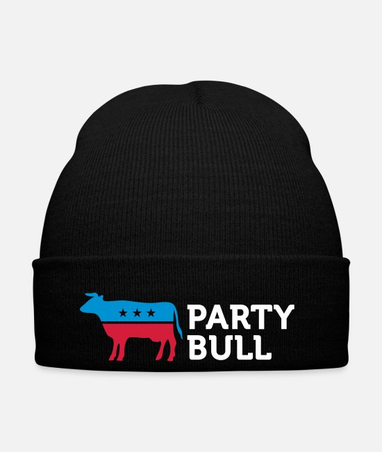 Progressive Caps & Hats - Political Party Animals: Taurus - Winter Hat black