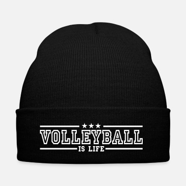 Beachvolley volleyball is life deluxe - Bonnet d'hiver