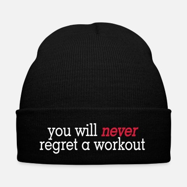 Health you will never regret a workout 2c - Bonnet d'hiver