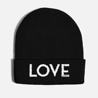 Scribble LOVE ALWAYS white - Winter Hat