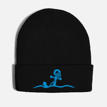 Under Water Anchor under water waves design - Winter Hat