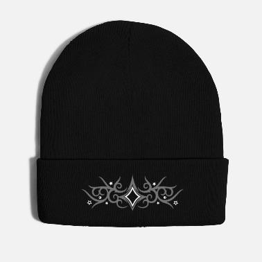 Tribal Tattoo Tribal Tattoo ornament with stars. - Winter Hat