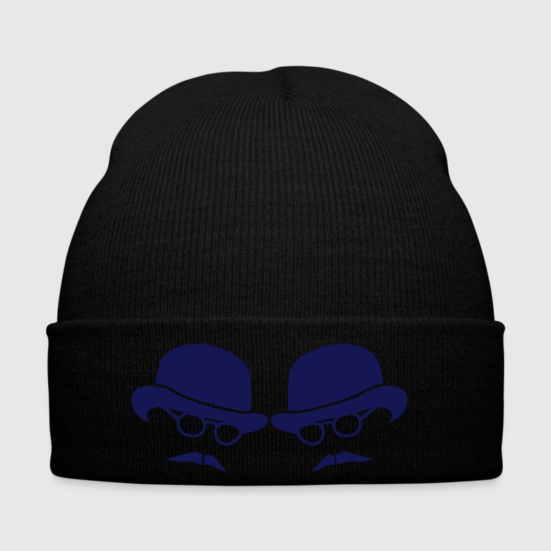 two men on bowler hats with glasses and moustaches - Winter Hat