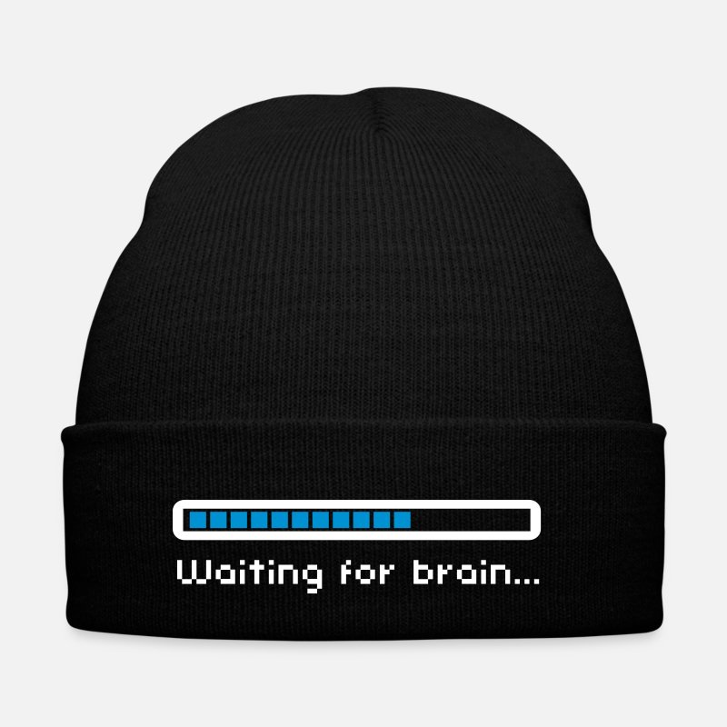 Geek Casquettes et bonnets - Waiting for brain (loading bar) / Funny humor - Bonnet noir