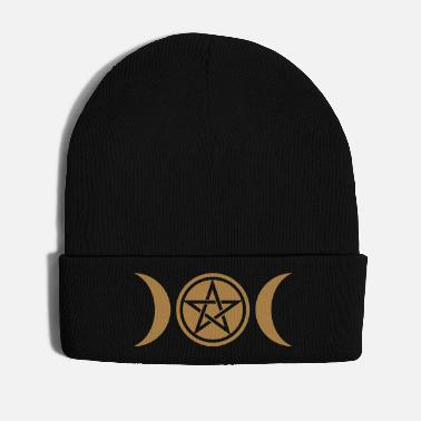 Goddess Wicca triple moon - Goddess symbol - Pentagram - Winter Hat