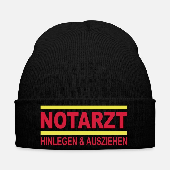 Doctor Caps & Hats - notation - Winter Hat black