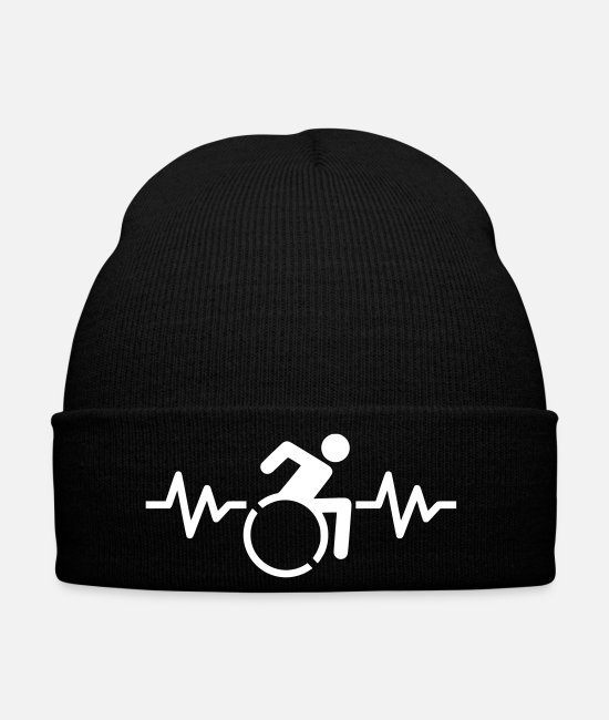 Handicap Caps & Hats - Wheelchair Renner heartbeat - Winter Hat black