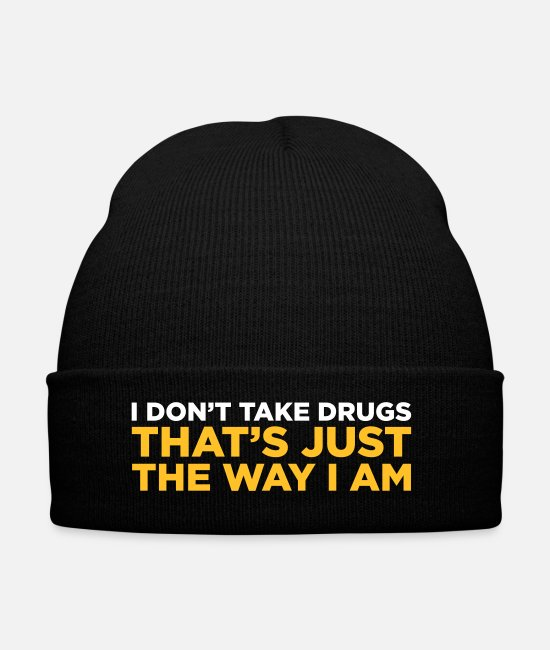 Cocaine Caps & Hats - I Do Not Do Drugs. That S How I Am! - Winter Hat black