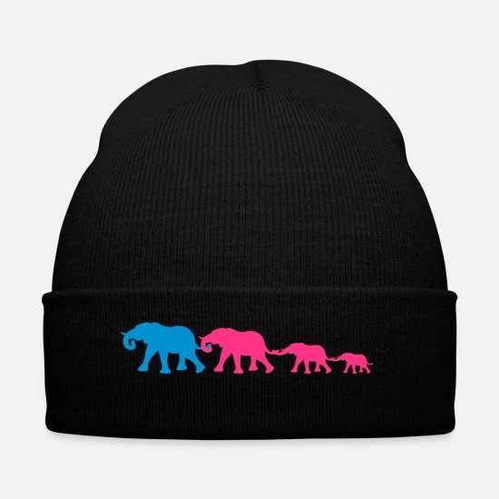 Big Caps & Hats - wandering_elephants - Winter Hat black