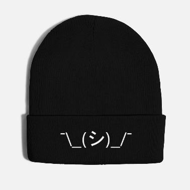 Oops Oops Shrug Emoticon ¯\_(シ)_/¯ Japanese Kaomoji - Winter Hat
