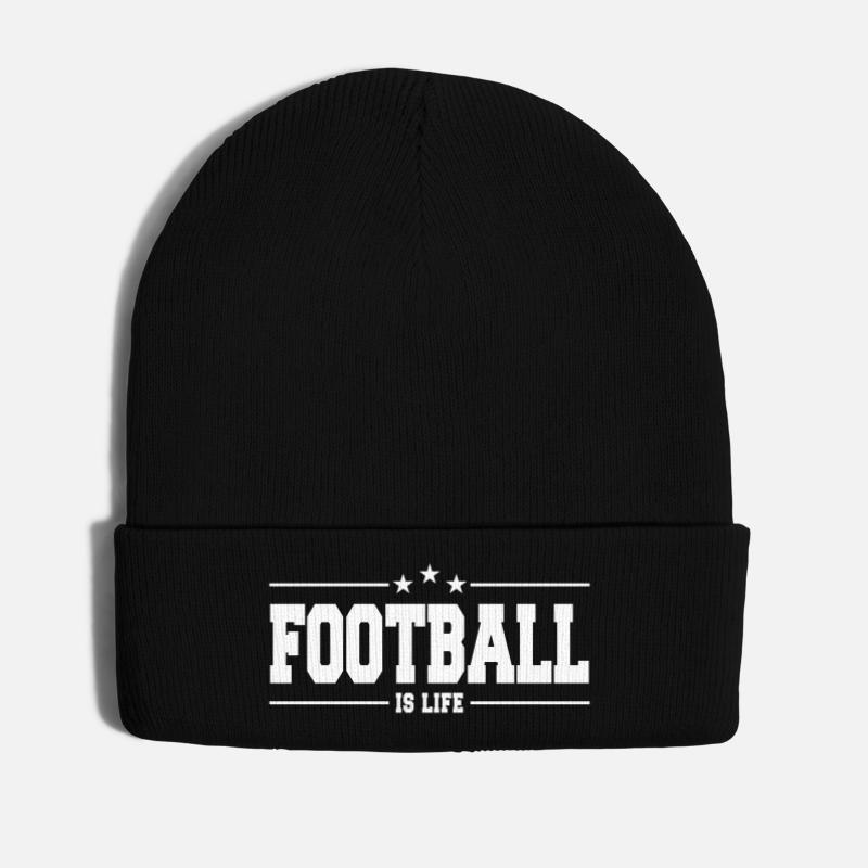 American Football Caps & Hats - football is life 1 - Winter Hat black