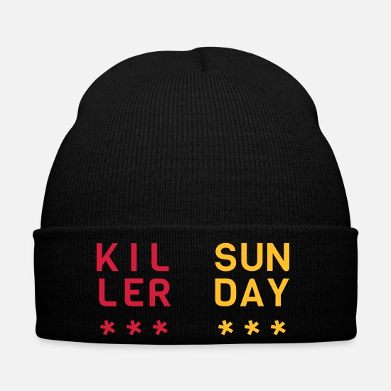 Alcohol Caps & Hats - killer sunday - Winter Hat black