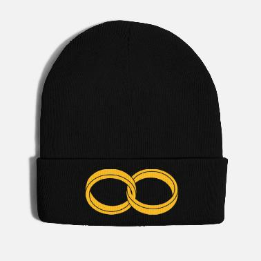Marriage Infinity Shape wedding rings - like a Symbol of infinity - Winter Hat